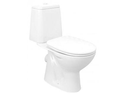 RIGA WC kombi, dvojtlačítko 3/6l, zadní odpad, bílá
