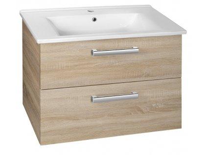 VEGA umyvadlová skříňka 72x57,6x43,8 cm, 2xzásuvka, dub platin