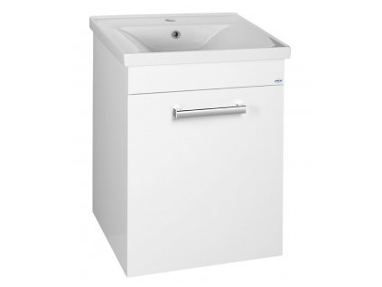 POLY umyvadlová skříňka 51,8x74,6x44 cm, 1xdvířka, bílá