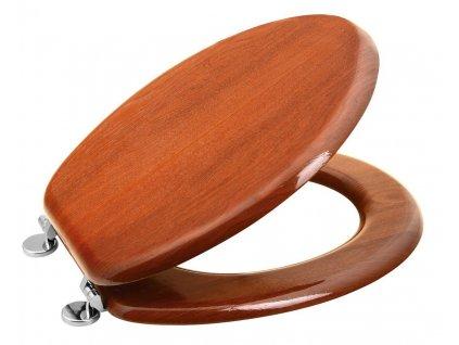 AQUALINE WC sedátko, HDF, třešeň
