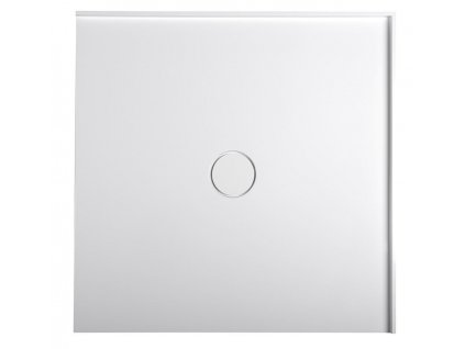 MIRAI sprchová vanička z litého mramoru, čtverec 80x80x1,8cm, bílá