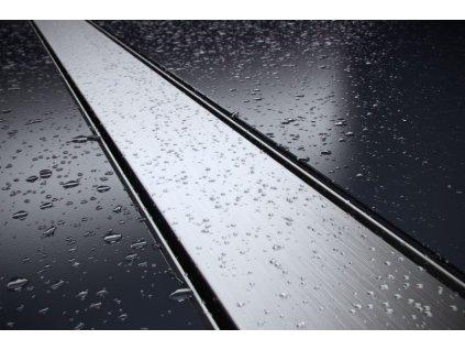 Duo sprchový odvodňovací žlab SET (nerez dno + rošt DUO + izolační manžeta 500 mm)