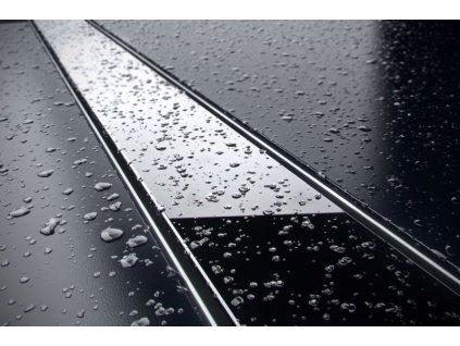 Sprchový odvodňovací žlab SET (nerez dno + sklo černé + izolační manžeta 500 mm)