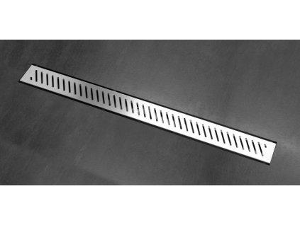 Rigo sprchový odvodňovací žlab SET (nerez dno + rošt RIGO + izolační manžeta 500 mm)