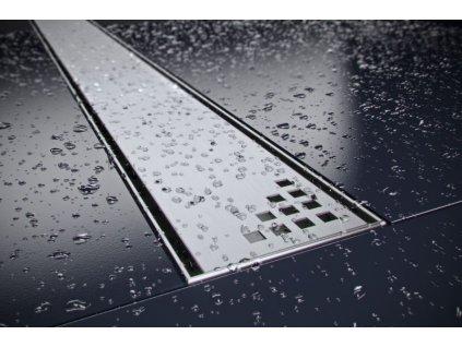Quadro sprchový odvodňovací žlab SET (nerez dno + rošt QUADRO + izolační manžeta 500 mm)