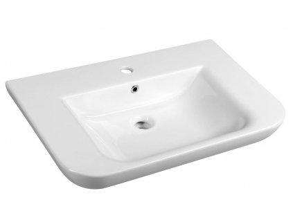 DORI keramické umyvadlo s odkládací plochou 90x48 cm, bílá