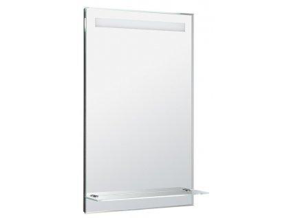 LED podsvícené zrcadlo 50x80cm, skleněná polička, kolíbkový vypínač