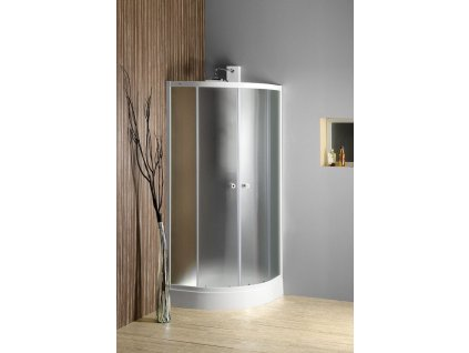 ARLEN čtvrtkruhová sprchová zástěna 800x800 mm, sklo BRICK