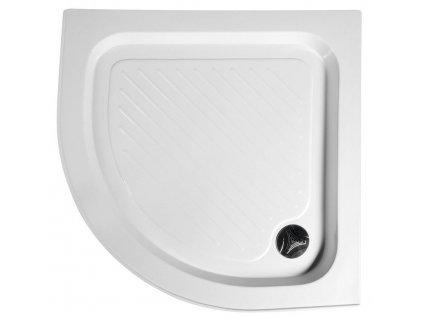 Sprchová vanička akrylátová, čtvrtkruh 80x80x15 cm