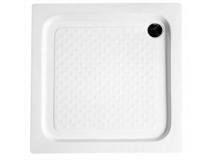 Sprchová samonosná vanička akrylátová, čtverec 80x80x15 cm