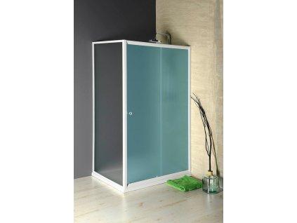 AMADEO boční stěna 900 mm, sklo BRICK