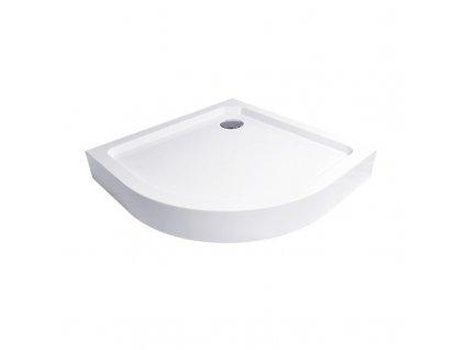 Čtvrtkruhová sprchová vanička, R550, SMC, bílá včetně nožiček a sifonu ø 90 mm.