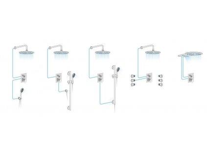 LOTTA podomítková sprchová baterie, 2 výstupy, chrom
