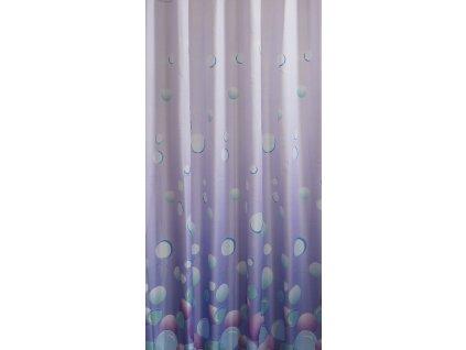 Závěs 180x200cm,100% polyester, světle fialová
