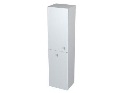 AILA skříňka vysoká s košem 35x140x30cm, levá, bílá/stříbrná