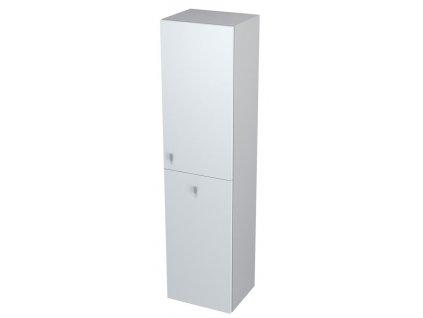 AILA skříňka vysoká s košem 35x140x30cm, pravá, bílá/stříbrná
