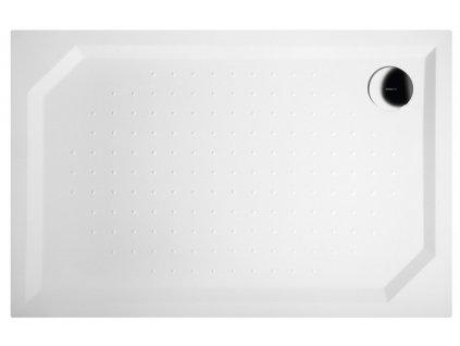 SARA sprchová vanička z litého mramoru, obdélník 120x80x4cm