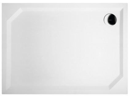 SARA sprchová vanička z litého mramoru, obdélník 110x80x4cm, hladká