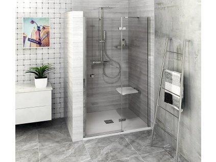 FORTIS LINE sprchové dveře do niky 1000mm, čiré sklo, pravé