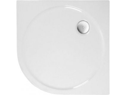 SONATA sprchová vanička akrylátová, čtvrtkruh 100x100cm, R550, bílá