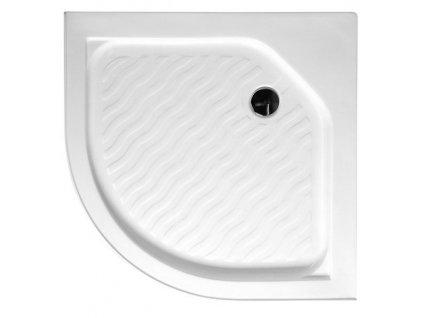Sprchová vanička akrylátová, čtvrtkruh 80x80x15cm