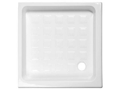 RETRO keramická sprchová vanička, čtverec 90x90x20cm