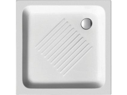 Keramická sprchová vanička, čtverec 80x80x10cm