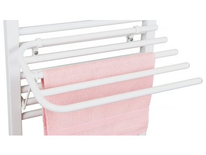 Sušák 4 ručníků na otopná tělesa s rovnými trubkami IL/EL, bílá
