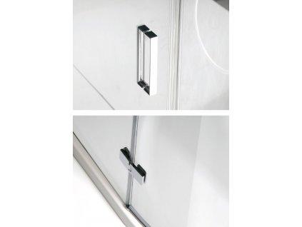VITRA LINE zástěna, obdélník 1100x900mm, pravá, čiré sklo