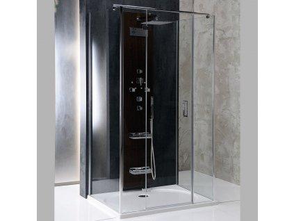 VITRA LINE třístěnová zástěna bez držáků osušky 900x800mm, levá, čiré sklo