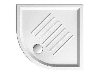 Keramická sprchová vanička, čtvrtkruh 90x90x6cm, R550