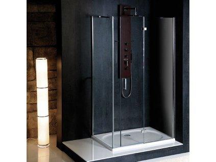 VITRA LINE zástěna, obdélník 1200x800mm, pravá, pevný roh, čiré sklo