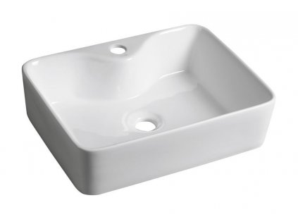 BALENA keramické umyvadlo 48x13,5x37 cm, na desku