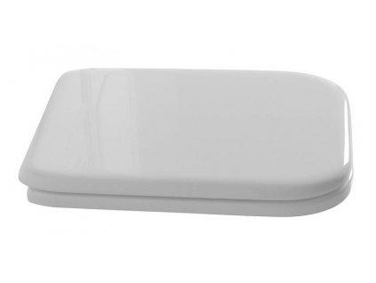 WALDORF WC sedátko Soft Close, polyester, bílá/chrom