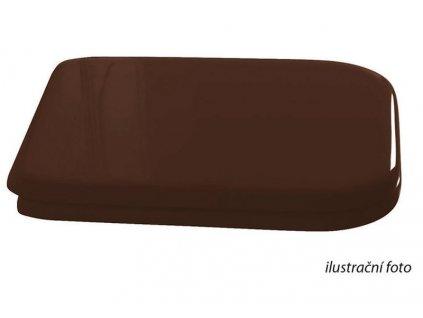 WALDORF WC sedátko Soft Close, dřevo masiv, ořech/chrom