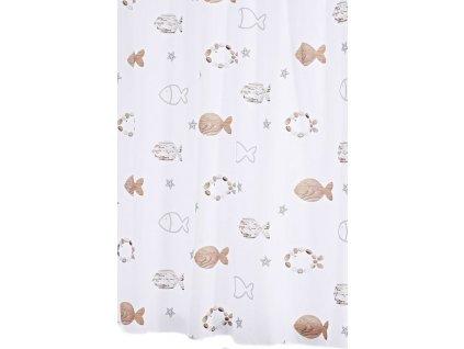 FISHES sprchový závěs 180x200cm, polyester