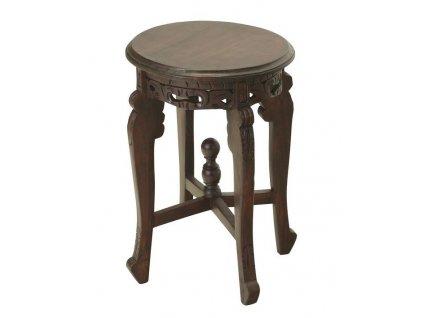 BALI stolička 30x45cm, tmavě hnědá