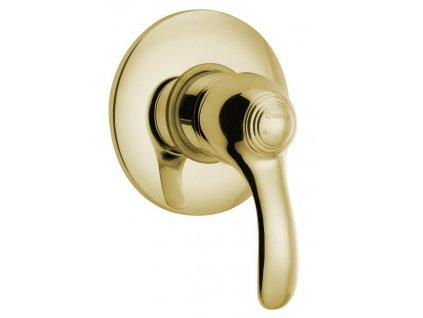 KIRKÉ podomítková sprchová baterie, 1 výstup, zlato