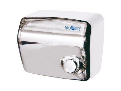 Elektrický osoušeč rukou s tlačítkem, 1500 W, nerez