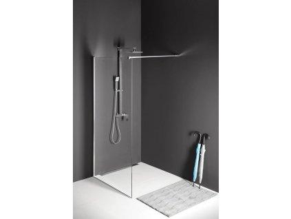 MODULAR SHOWER jednodílná zástěna pevná k instalaci na zeď, 1100 mm