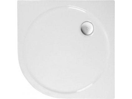 SONATA sprchová vanička akrylátová, čtvrtkruh 100x100cm, R500, bílá