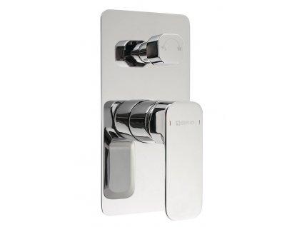 SPY podomítková sprchová baterie, 2 výstupy, otočný přepínač, chrom