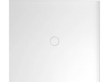 MIRAI sprchová vanička z litého mramoru, obdélník 100x90x1,8cm, pravá, bílá