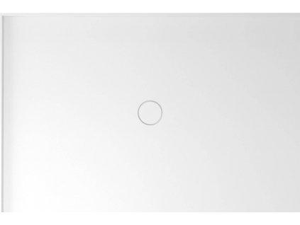 MIRAI sprchová vanička z litého mramoru, obdélník 120x80x1,8cm, levá, bílá