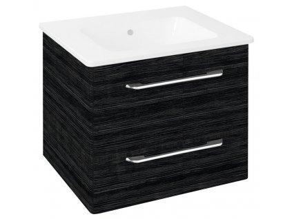 PURA umyvadlová skříňka 57x50,7x48,5cm, graphite line
