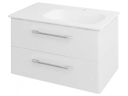 PURA umyvadlová skříňka 77x50,5x48,5cm, pravá, bílá