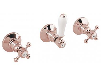 ANTEA podomítková sprchová baterie, 2 výstupy, růžové zlato