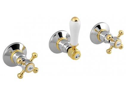 ANTEA podomítková sprchová baterie, 2 výstupy, chrom/zlato