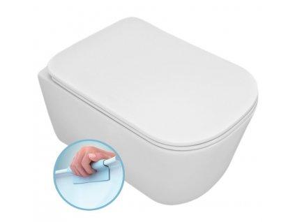TRIBECA závěsná WC mísa, Rimless, 35x54 cm, bílá