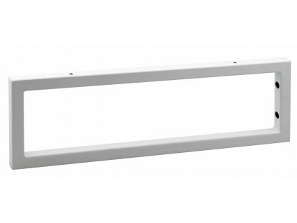Podpěrná konzole 490x150x20mm, lakovaná ocel, bílá mat, 1 ks
